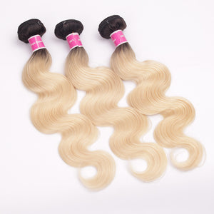 3 Bundles Ombre Hair T1B/613 High Quality Virgin Body Wave Hair Wefts Hot Selling