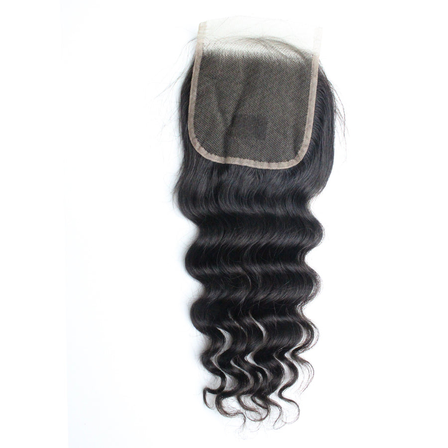 4x4 Lace Closure Loose Deep Wave Free Part Closure Hair with Baby Hair