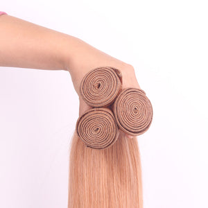 3 Bundles #112 Hair Color Straight Human Brazilian Hair Weave Deals