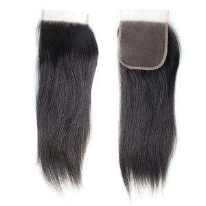 Brazilian Hair Extremely Soft Human Brazilian Straight Hair Bundles With Lace Closure Coffy Remy Hair