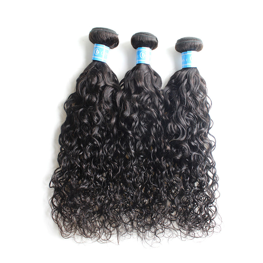 Brazilian Water Wave Remy Hair Wefts 3 Bundles Stylish Human Hair Bundles
