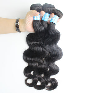 Brazilian Wavy Hair Body Wave 4 Bundles With Closure Comfortable High Quality 4x4 Lace Brazilian Hair