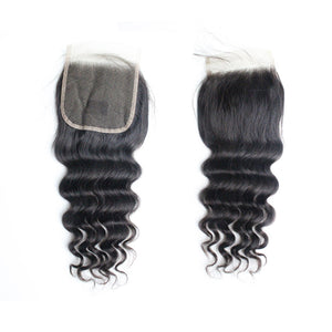 Brazilian Hair Loose Deep Fine Wave Human Hair Products 4 Bundles Weaves With Closure Coffy Online