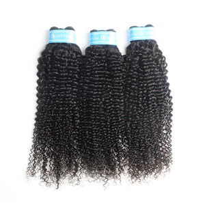 Indian Popular Kinky Curly Raw Hair Weaves 3 Bundles Hair Extensions