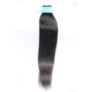 Indian Straight Hair 3 Bundles Mink Hair With 4x4 Lace Closure Highest Grade Human Hair Hot Sale