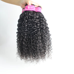 Malaysian Curly Human Full Hair Weaves 3 Bundles Gorgeous Virgin Hair Wefts