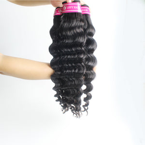 Malaysian Hair Can be Permed Loose Deep Wave 3 Bundles Malaysian Human Hair With 4*4 Lace Closure