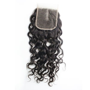 Malaysian Hair Sale Came With a Good Free Eyelashes Water Wave 3 Bundles And 1pc 4x4 Lace Closure