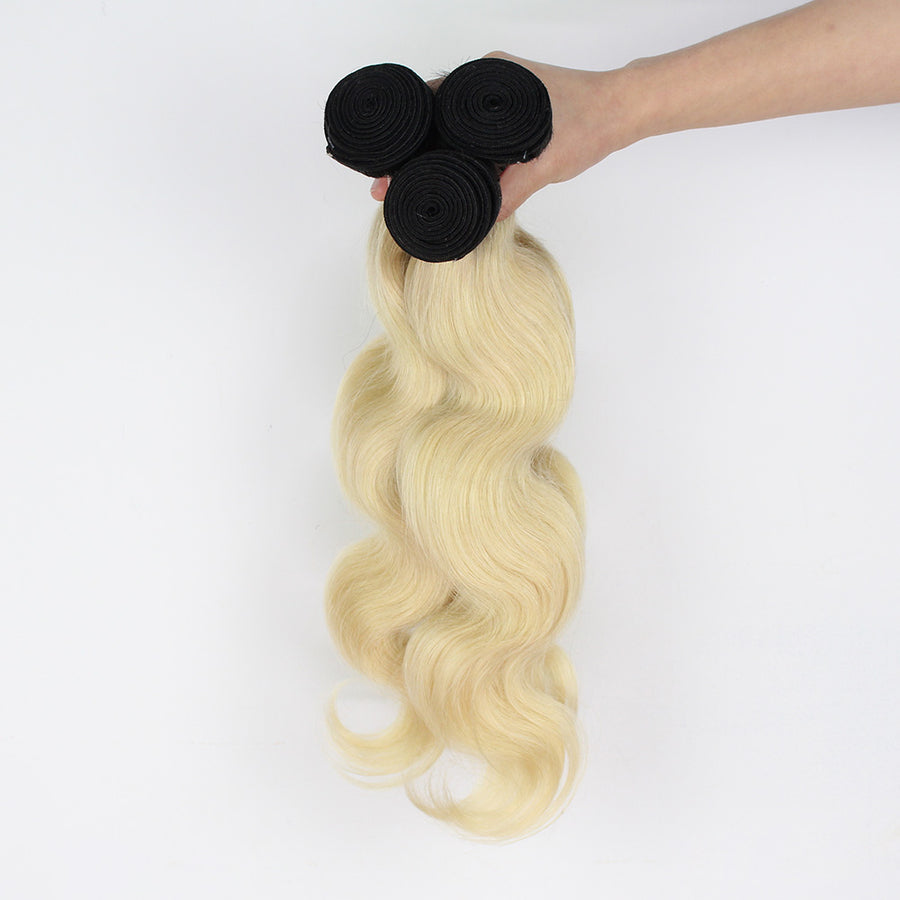 High Luster Ombre Body Wave Hair T1B/613 Color Ombre Hair 3 Bundles Coffy Hair
