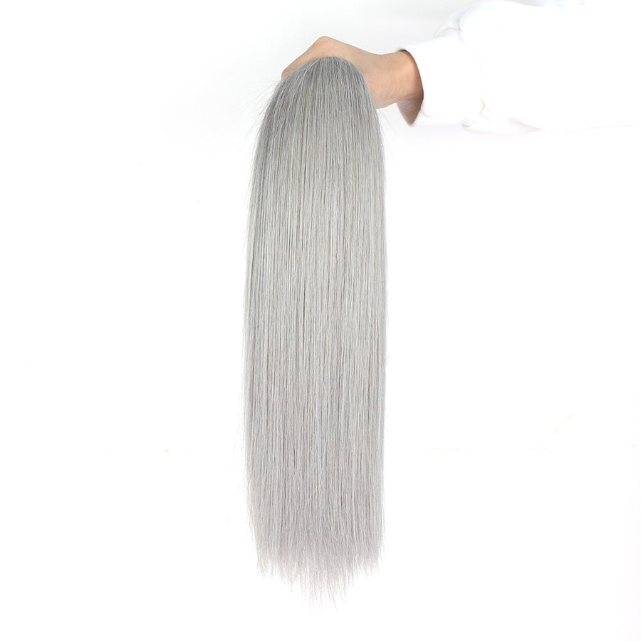 Stunning Ombre Hair Extension T1B/Grey Color Ombre Straight Hair 3 Bundles For Easy Quick Install