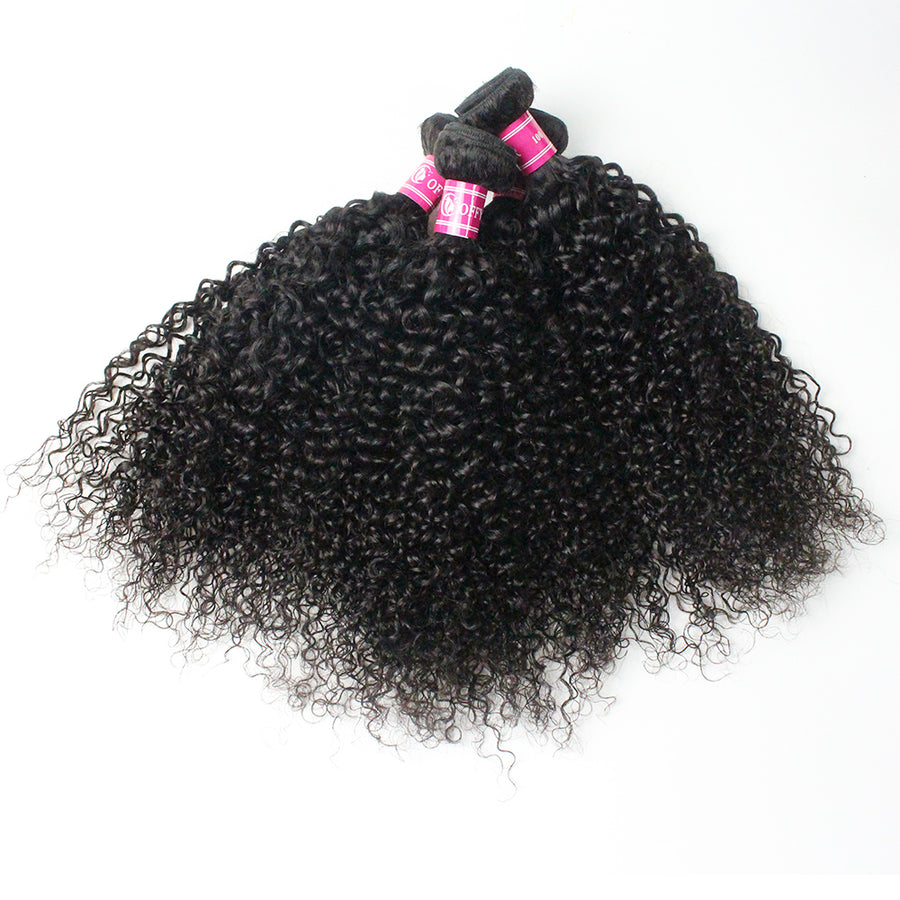 Coffy Looking Fabulous Peruvian Curly Hair 3 Bundles With Closure 4x4 Lace Virgin Peruvian Hair