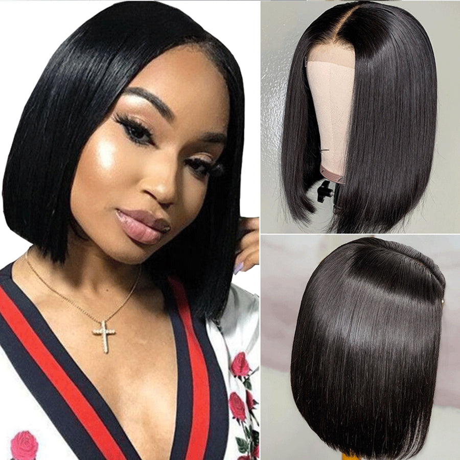 Bob Wigs Straight 4x4 Lace Bob Closure Wig Affordable Short Bob Wigs New Style Best Indian Hair