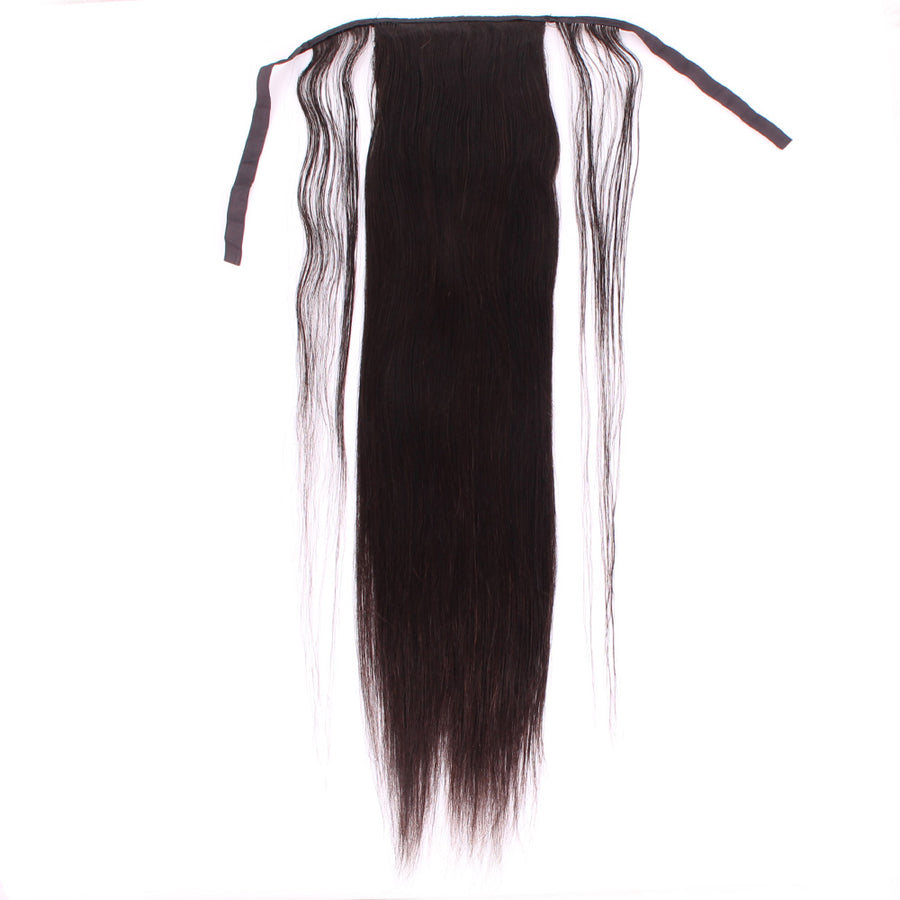 Straight Ponytail Extension Invisible Silky Hair Extension For Black Women