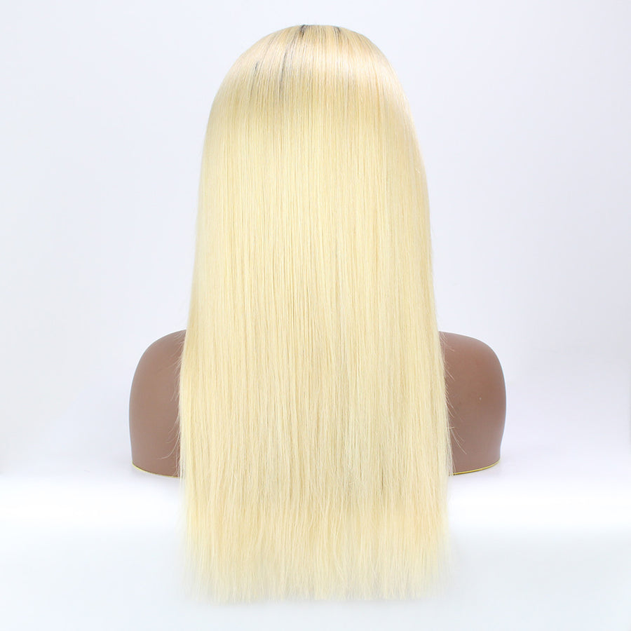 Sleek Straight New Fashion T1B/613 Blonde Hair 13x4 Lace Front Wigs For Black Women