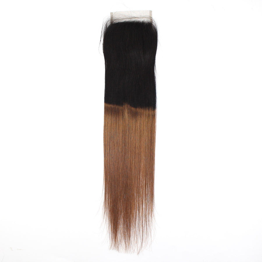 Ravishing Sight T1B/30 Hair Color 4x4 Lace Closure Straight Human Remy Hair For Women