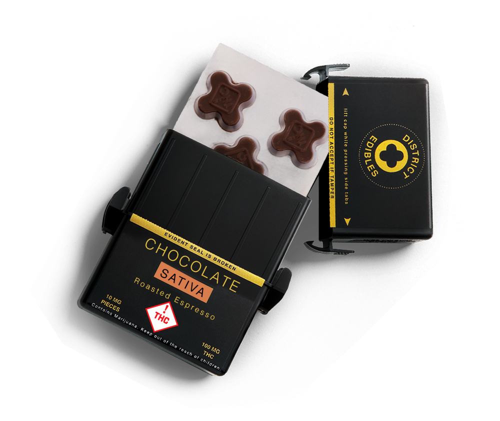 Roasted Espresso Sativa Chocolate - District Edibles