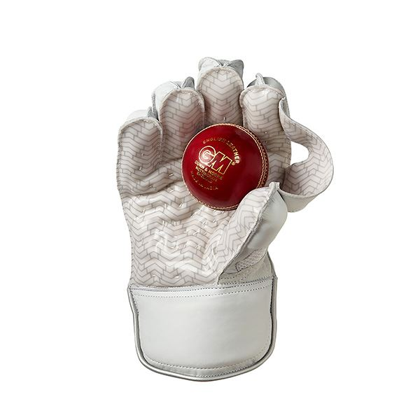 Gunn & Moore Original LE Wicket Keeping Gloves Back with ball