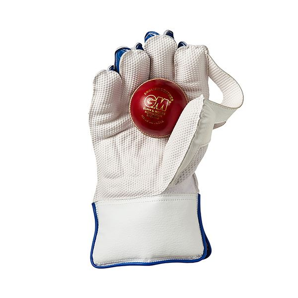 Gunn & Moore Siren Wicket Keeping Gloves Front with ball