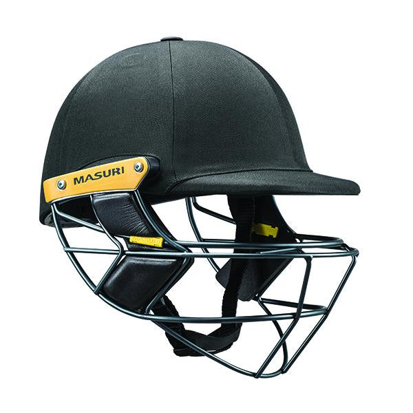 Masuri E-Line Steel Senior Cricket Helmet Black