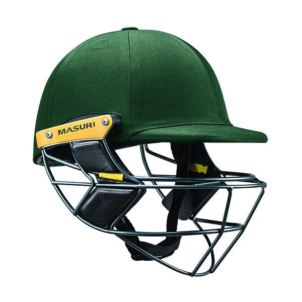 Masuri E-Line Steel Senior Cricket Helmet Green