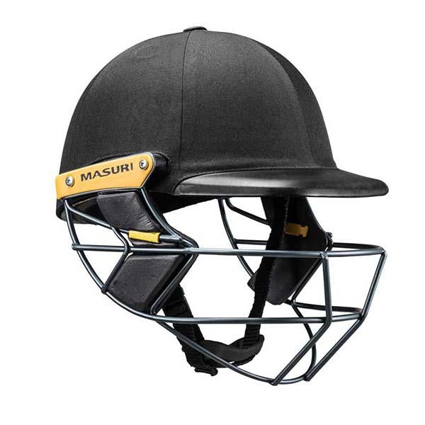 Masuri C-Line Plus Steel Senior Cricket Helmet Black