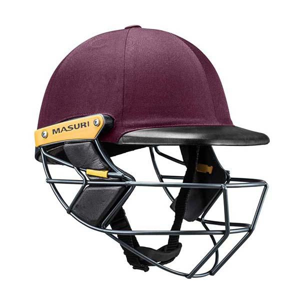 Masuri C-Line Plus Steel Senior Cricket Helmet Maroon