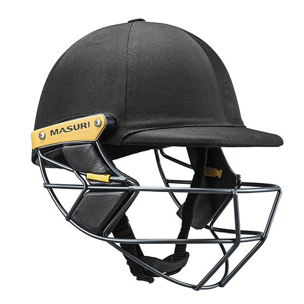 Masuri T-Line Steel Senior Cricket Helmet Black