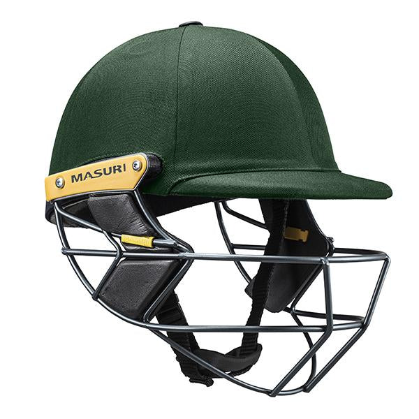 Masuri T-Line Steel Senior Cricket Helmet Green