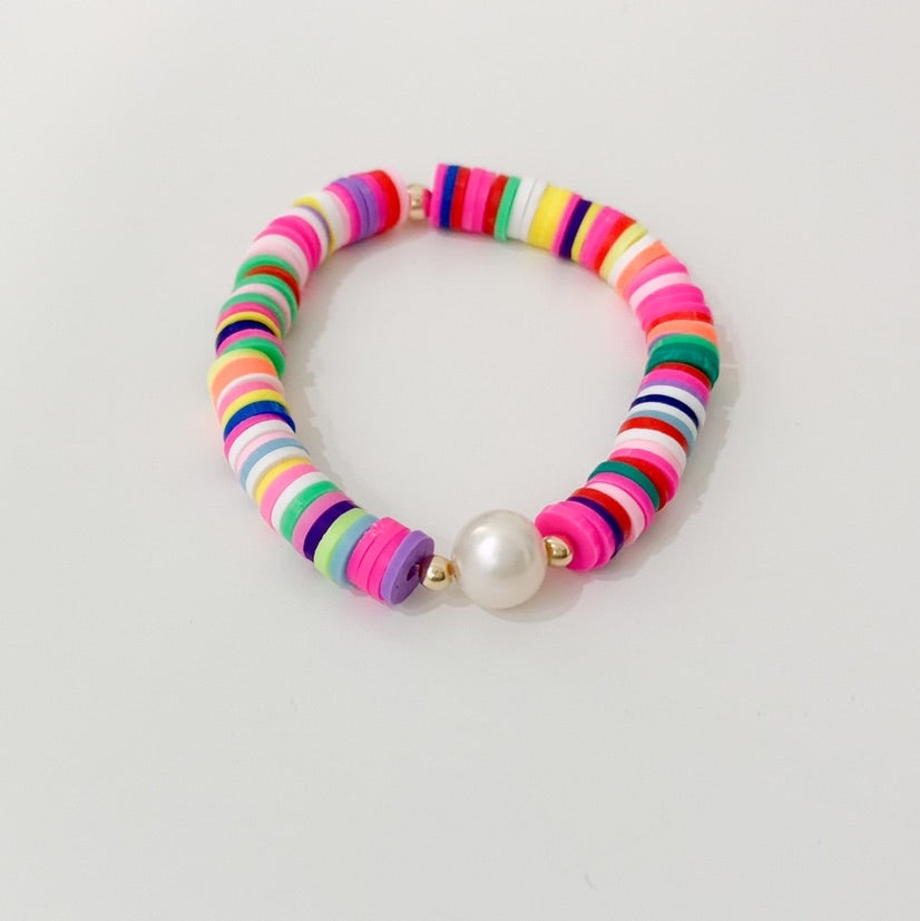 Colorful Pearl Bracelet - Little Girls