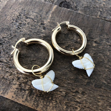 Load image into Gallery viewer, Shark Tooth Hoops- 1""