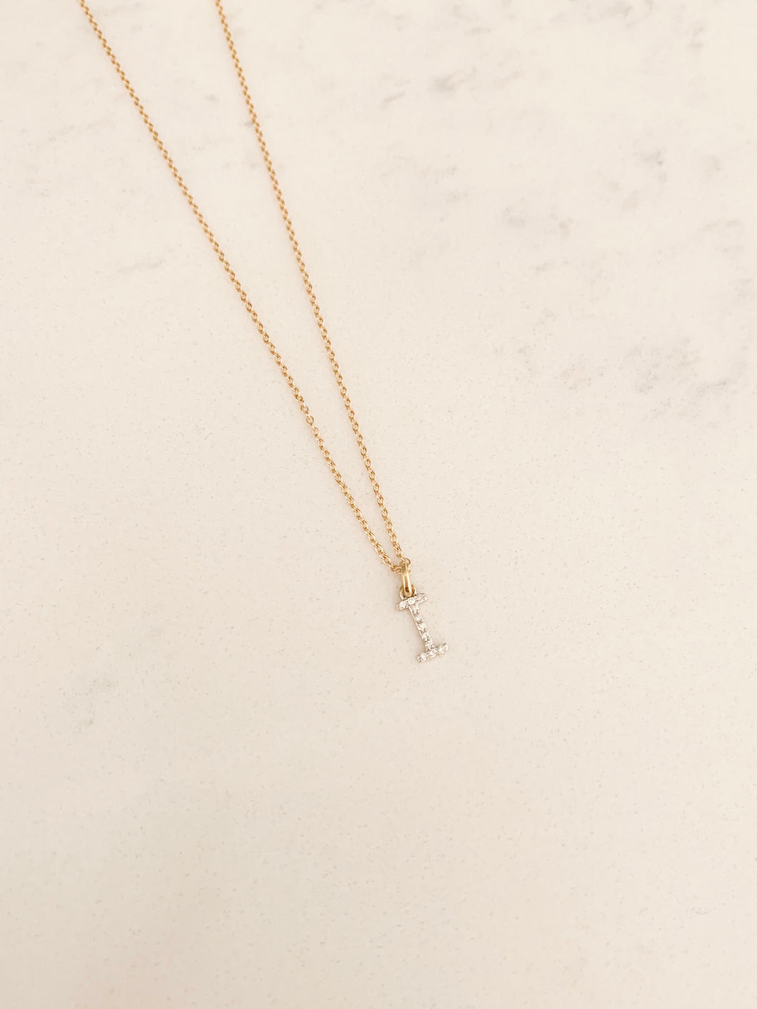 14KT. Diamond Initial Necklace
