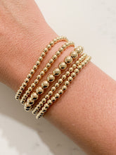 Load image into Gallery viewer, Gold Beaded Bracelet- 6mm