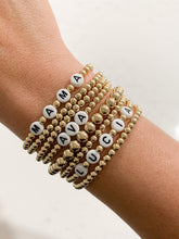 Load image into Gallery viewer, Name Bracelets - Gold Beads