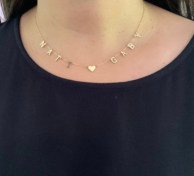 Spaced Name Necklace