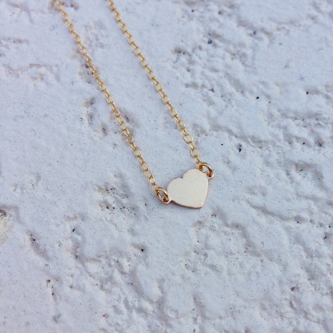 Gold Tiny Heart Necklace