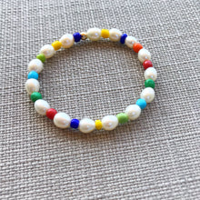 Load image into Gallery viewer, Rainbow Pearl Bracelet- Little Girls