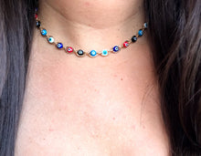 Load image into Gallery viewer, Colorful Evil Eye Choker