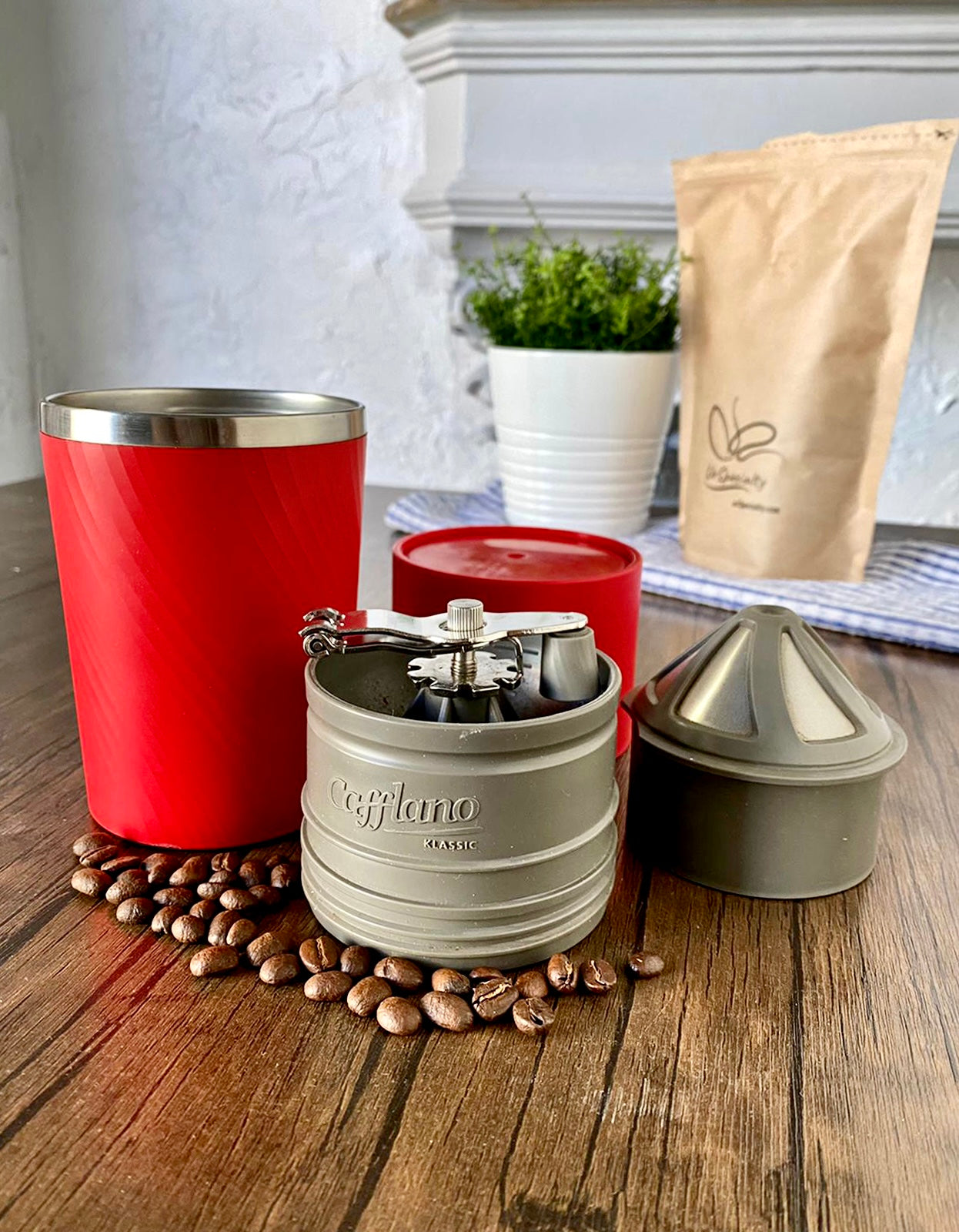Home Coffee Starter Kit - Cafflano, & Beans