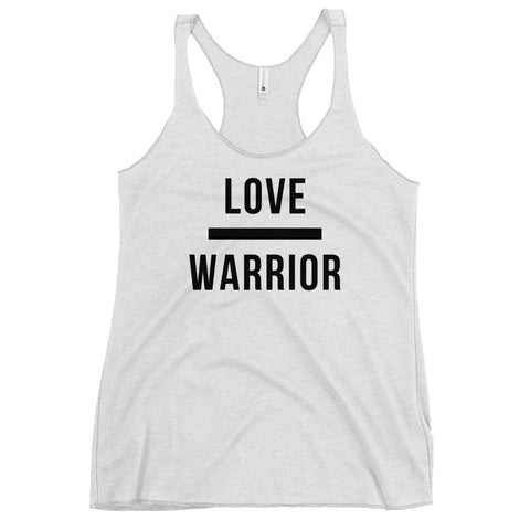 Love | Warrior Women's Racerback Tank