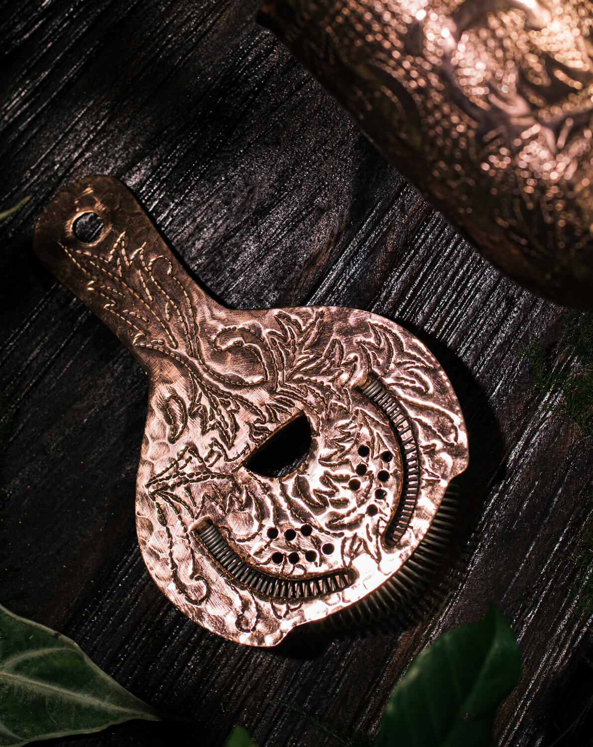 Strainer Engraved Flores 022