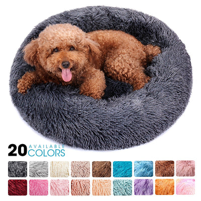 Round Plush Dog Bed Basket - Altus Pet