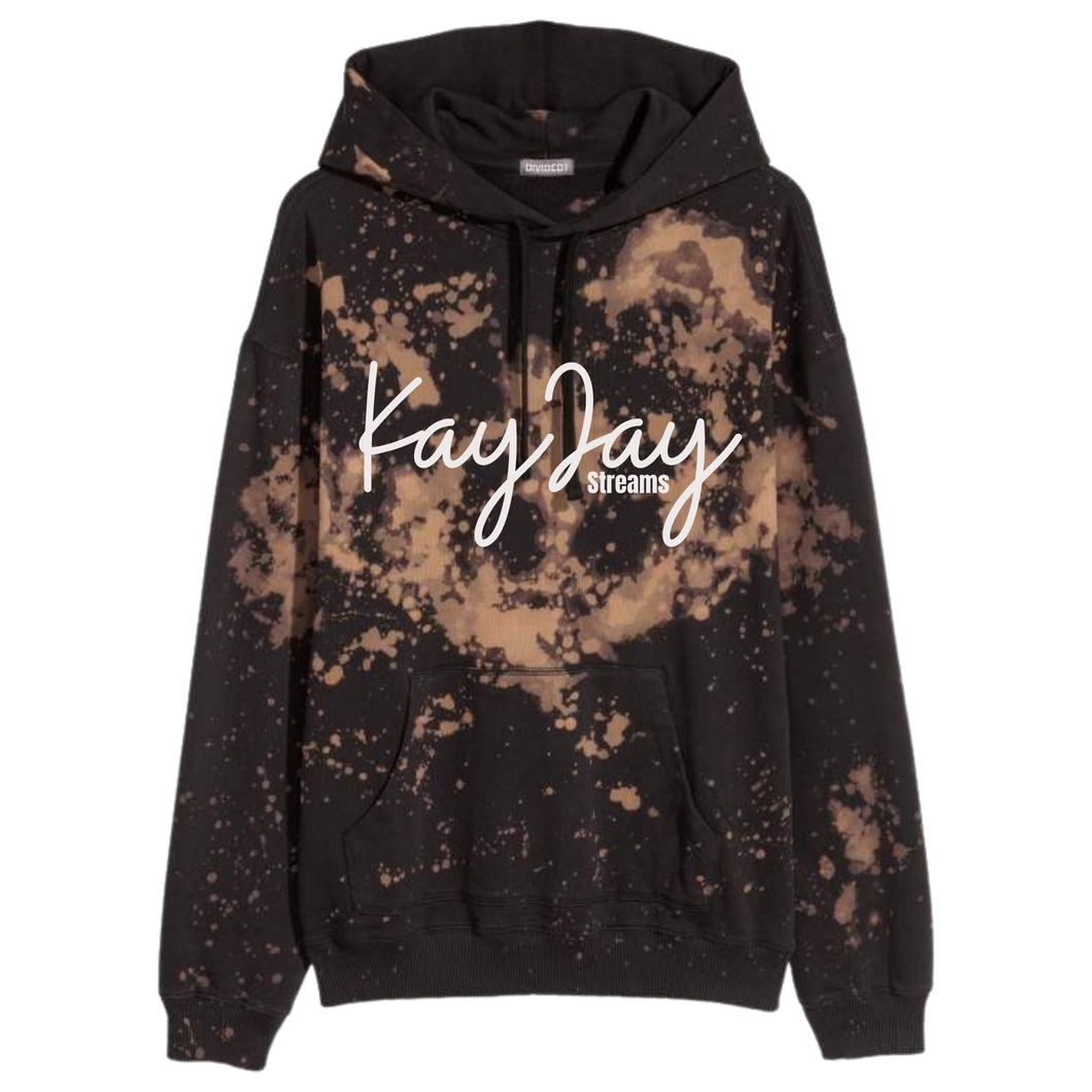 KayJay Streams Bleach Dyed Hoodie