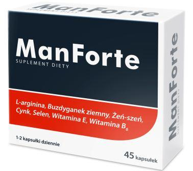 ManForte, sexual health and fertility supplement, 45 capsules
