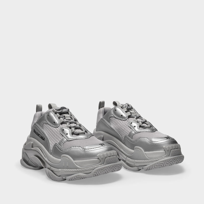 Sneaker Triple S aus grauem Polyesther