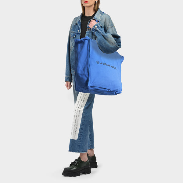 Tasche Berlin XL aus Canvas Eco Washed blau Jersey