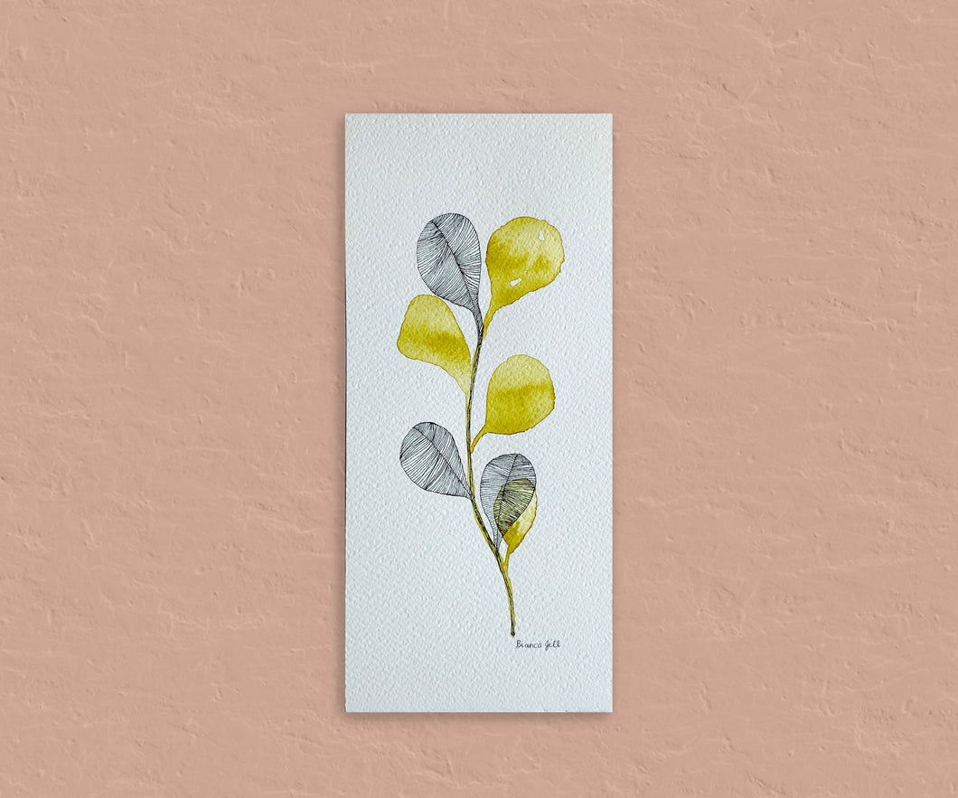 Ink Abstract Tall | Cadmium Yellow