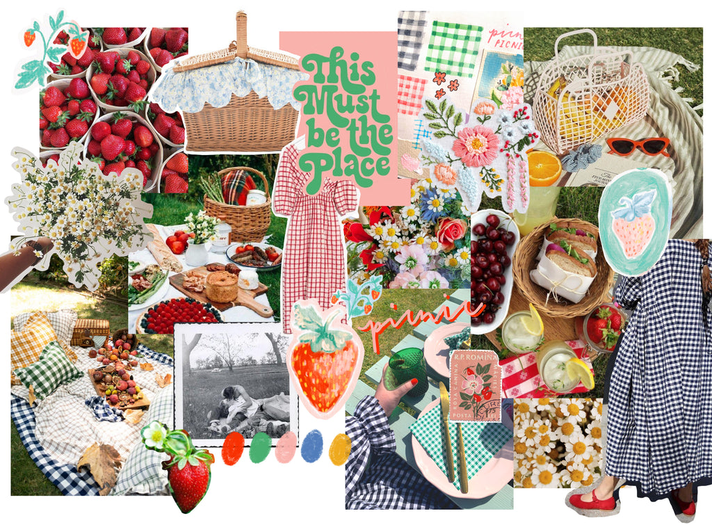 Picnic Brief Moodboard - A collection of imagery found on Pinterest and my own photographs and sketches.
