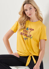 Load image into Gallery viewer, Terina Camp Knotted Tee-Shirt