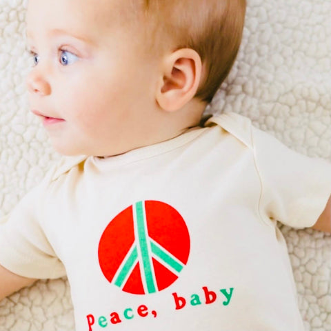 LONG SLEEVE PEACE ONESIE