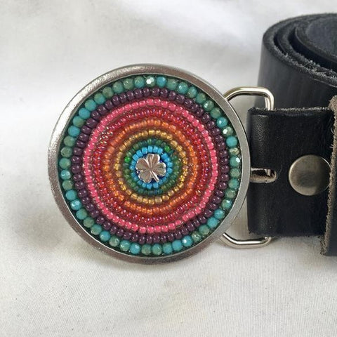 SHAMROCK | RAINBOW BELT BUCKLE